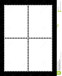 Stamps Template 4 Blank Stamp Templates Stock Illustration Illustration Of