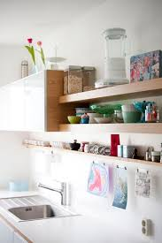 view in gallery kitchen floating shelves