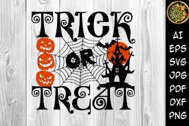 Trick Or Treat Happy Halloween Svg 12x12 Graphic By V Design Creator Creative Fabrica