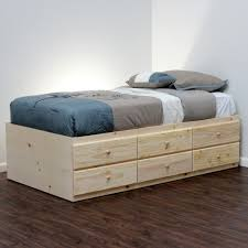 Xl Twin Bed Frame With Storage | wood projecs | Pinterest | Bed ...