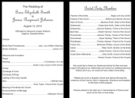 program template for wedding 37 printable wedding program examples templates template lab