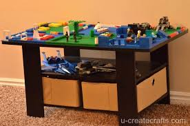 turn a coffee table into a lego table