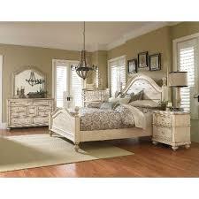white king bedroom set antique white 6-piece king bedroom set ...