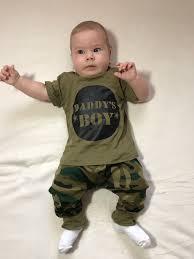 2019 Summer <b>2pcs baby</b> clothes <b>Newborn Toddler Army</b> green Boy ...