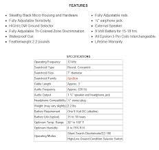 tesoro mojave Tesoro Compadre Wiring Diagram image showing more features of the tesoro mojave metal detector