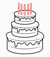How To Draw A Birthday Cake Drawing Cartoon At Getdrawings Com Free