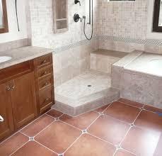 square vintage bathroom floor tile