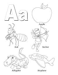 Alphabet Color Pages Kindergarten Alphabet Coloring Pages For