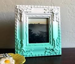 painted wood picture frames. Painted Picture Frames Photo Frame In Turquoise White Wood . 2 Hand R