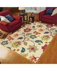5 x 9 area rug ina weavers cocamo collection botanic explosion ivory area rug 65 x 5 x 9