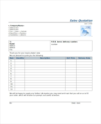 Service Quotation Service Quote Template Free Quotation Templates Estimate