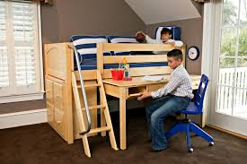 bunk bed with desk. And Tucked Underneath The Bed When Studying Is Done. A Great \u201cside Effect\u201d Of This Solution That Desktop Clutter Automatically Eliminated! Bunk With Desk