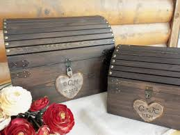 ready to ship 3 5 bus days wedding card box med size rustic wood chest with card slot and lock key set all inclusive