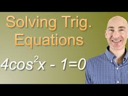 solving trig equations practice