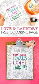 Love And Laundry Coloring Page Tried True