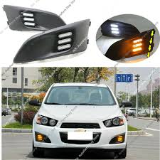 Chevrolet Sonic Lights Details About Led Drl Daytime Running Lights W Turn Signal For Chevrolet Sonic Aveo 2011 2015