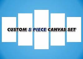 image is loading custom 5 piece canvas print set photo to  on 5 canvas wall art custom with custom 5 piece canvas print set photo to canvas wall art canvas