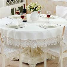 details about home decoration jacquard table cloth wedding embroidered lace cloths round table