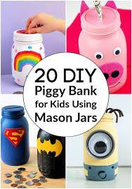 how to make a piggy bank for kids using mason jars diy ideas mason jar piggy