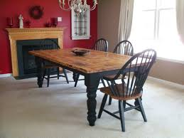 black wood rectangular dining table. Charming Rustic Dining Table For Room Decoration : Lovely Using Rectangular Solid Black Wood E