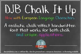 chalkboard fonts free djb chalk it up font dafont com