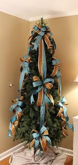 Blue / Brown Designer Christmas Tree Bow Set