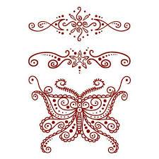 Henna Motýl Dva Ornamenty