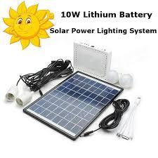 10W Lithium Battery Solar Power Lighting System Sale  BanggoodcomSolar Powered Lighting Systems