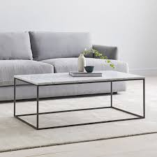 streamline coffee table marble