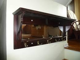 Coat Hook Rack With Mirror Coat Racks astounding coat rack with mirror and shelf coatrack 35