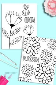 Try to color flower pictures to unexpected colors! Printable Flower Coloring Pages Just What We Eat