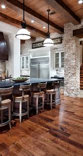 Floor and ceiling look. shabby chic furniture, rustic wood, brick stone  wall design, modern interior design and home decorating ideas