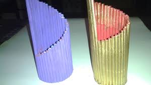 Flower Vase With Paper How To Make Flower Vase With Paper Youtube