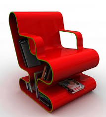 chair with storage. red modern lounge chair with bookshelf storage for small home library spaces ideas g