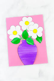 Paper Flower Bouquet In Vase Easy And Fun Paper Flower Bouquet Craft Fireflies And Mud Pies
