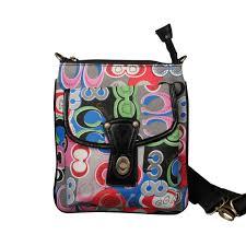 Coach Fashion Turnlock Signature Small Grey Multi Crossbody Bags EOS