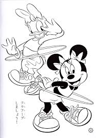 Small Picture Photo of Walt Disney Coloring Pages Daisy Duck Minnie Mouse