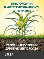 Отчетность и раскрытие информации ПАО Уралкалий  Годовой отчет 2016 · Приложение к годовому отчету за 2016 г