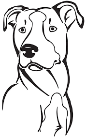 Pitbull Tattoo Drawings Sketch Coloring Page
