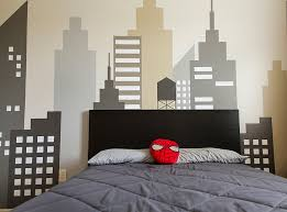 decorate boys bedroom. Image Of: Funky Geometric Designs Paint Wall Boy Room Decorate Boys Bedroom