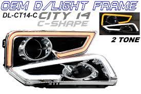 Honda City 14 16 Fog Lamp Cover With C Shape Daylight Frame Bar 2 Tone