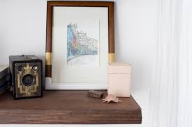 diy painted picture frame