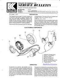 spark advance kohler wiring diagram spark automotive wiring diagrams kohler ignition two cycle 1