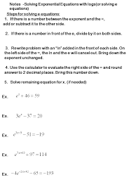 solving exponential and log equations ppt