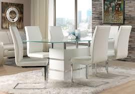 Dining Room White Modern Diningroom Furniture Packages With Glass White Modern Dining Room Chairs