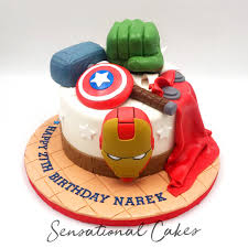 Avengers Superhero Iconic Design Birthday Boy Theme Customized Cake