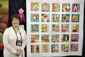 Two Material Girls win ribbons at the Tucson Quilt Show - Robson ... & Gayle Strack with her second place ribbon at the Tucson Quilt Show Adamdwight.com