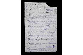 to do lis a handwritten to do list by madonna on one sheet of lined paper