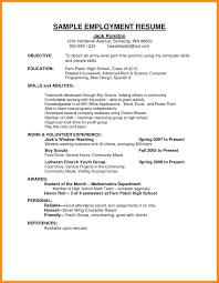 Sample Job Application Resume 100 sample application resume agenda example 22