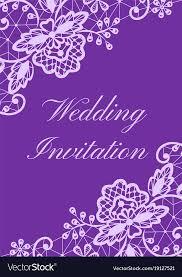 Wedding Invitations Templates Purple Wedding Invitation Template Royalty Free Vector Image